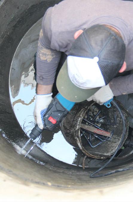 Как мы выполняем ремонт колодцев в Балабаново